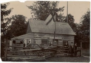 """The photo is from a July 27, 2016 tweet from The York Pioneers @YorkPioneers which reads: """"In this Scadding Cabin image is Thornton Blackburn's cab he used to fund family's freedom from slavery #BlackHistory."""""""