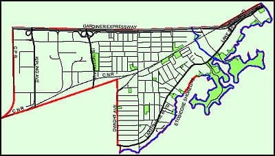 where is the eastern boundary of mimico preserved stories