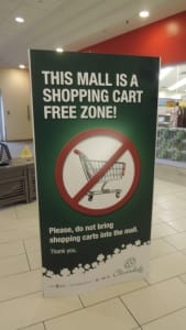 This Mall Is A Shopping Cart Free Zone! Cloverdale Mall. Jaan Pill photo
