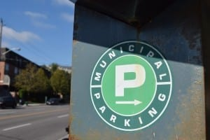 "The ""Green P"" sign is a sign to look for if you're looking for parking anywhere in Toronto. The rates are lower than for other parking options, as a rule. Jaan Pill photo"