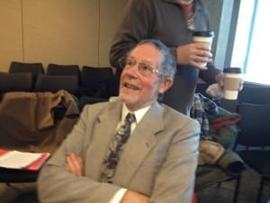 David Godley at break during OMB hearing on Feb. 13, 2015. A previous post regarding the OMB hearing, which addressed 20 James Street, is entitled: Jaan Pill photo