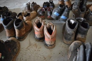 You had a choice of construction boots, organized by shoe size. Jaan Pill photo