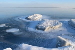 Ice formations at the shore of Lake Ontario south of the Small Arms building, Feb. 2, 2015. Jaan pill photo