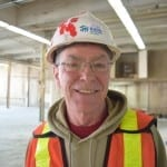 Jim Tovey, Ward 1 Councillor for the City of Mississauga, shown at the Small Arms Building during the recent demolition of non-load bearing walls at the south end of the building, will lead the May 3, 2015 Jane's Walk in Lakeview.