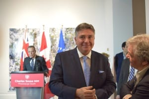 At the podium: Councillor Jim Tovey. In the foreground, Minister of Finance Charles Sousa. Jaan pill photo