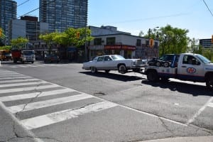 "If you keep an eye out for them, you will still see some 1960s-era cars on the streets of Toronto, such as what appears to me to be a vintage Lincoln Continental from ""days gone by."" Jaan pill photo"