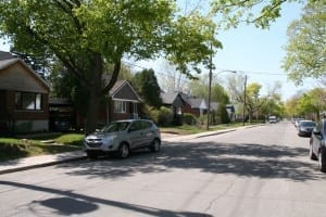 Lavigne Street looking toward the north, May 2015. Scott Munro photo