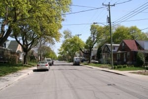 Lavigne Street, looking southward. Scott Munro photo