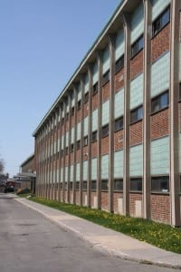 Malcolm Campbell High School building, May 2015. Scott Munro photo