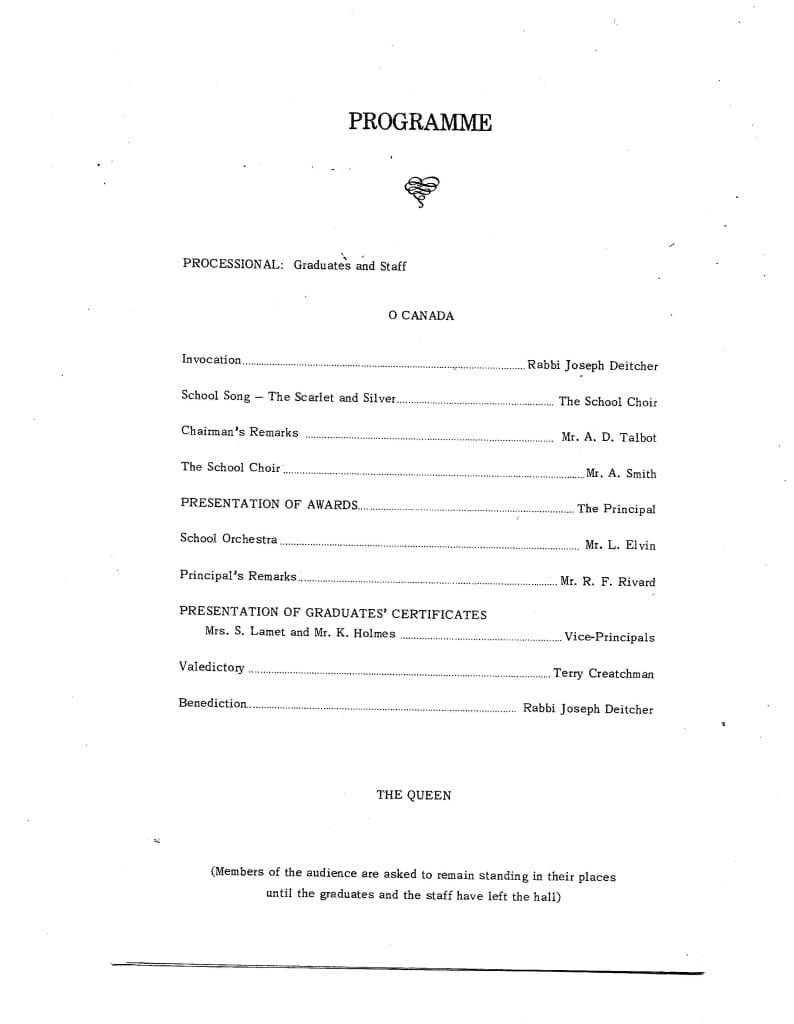 1967 Malcolm Campbell Graduation Program, Page 2
