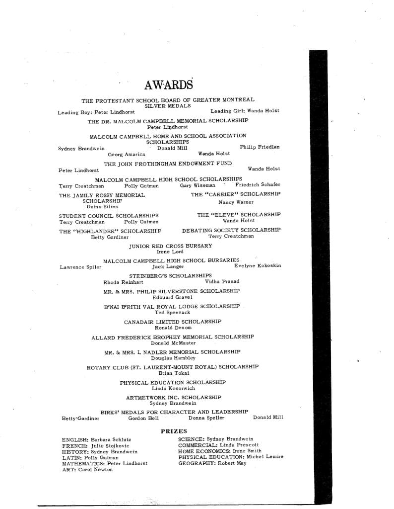 1967 Malcolm Campbell Graduation Program, Page 3