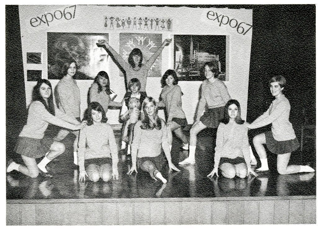 1966-67 MCHS Cheerleaders. Source; 1966-67 yearbook