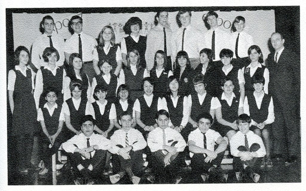 MCHS Drama Club, 1966-67. Source: MCHS 1966-67 yearbook