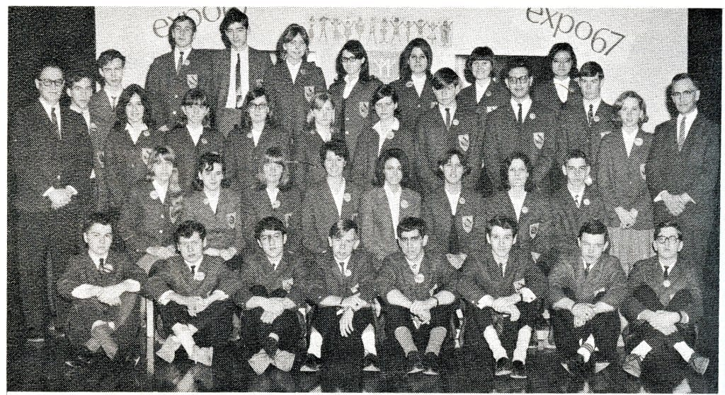 1967 Prefect Board. Source: MCHS 1966-67 yearbook