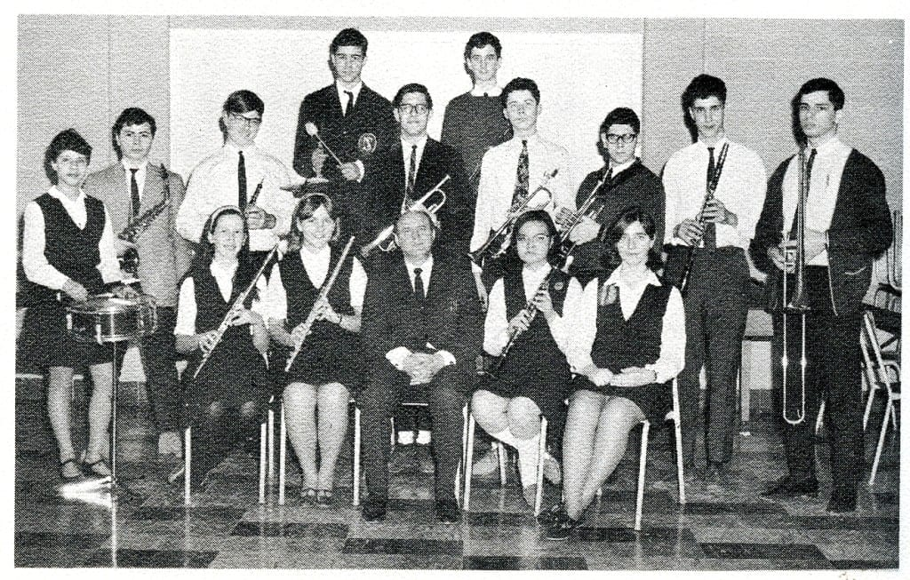Senior Band. Source: MCHS 1966-67 yearbook