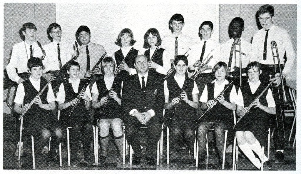 Junior Band. Source: MCHS 1966-67 yearbook