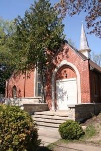 May 2015 photo of Church of Good Shepherd, across the street from Cartierville School. Scott Munro photo