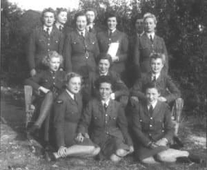 Glamour Watch, RAF Biggin Hill, 1940 - Pat Carswell nee Paddy Leonard front row left