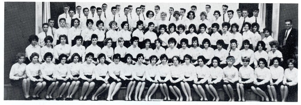 Senior Choir. Source: MCHS 1962-63 yearbook
