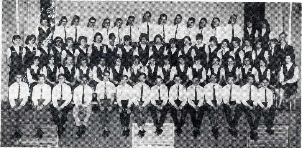 1963-64 Orchestra. Source: 1963-64 MCHS yearbook