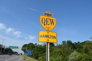 Whenever I see the British crown on a highway sign in Ontario, I ponder about what military history tells us about the British empire. Jaan Pill photo