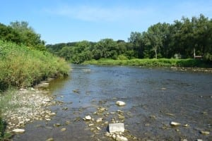 Humber River, viewed from the west bank close to Old Mill Toronto. Jaan Pill photo