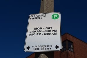 Parking along Bloor St. West north of Old Mill Trail is 25-cents on weekdays - but note the time periods, and it's free on Sundays.