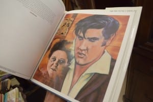 Bill explained that this illustration is of Elvis and his Mother. Jaan Pill photo