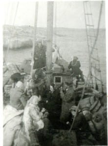 Boat on which my father and grandfather and other refugees made it across the Baltic Sea in September 1944 during the Second World War