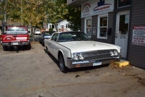 Among the cars on display at Bert's Auto Repair, when I stopped there on Oct. 7, 2015, was this Lincoln Continental, which in the 1960s was very much a high-end, prestige vehicle. Jaan Pill photo