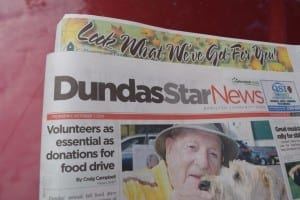 The photo of Scott Munro and colleagues appeared in the Oct. 1, 2015 issue of the Dundas Star. Jaan pill photo