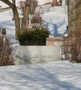 Malcolm Campbell gravesite at Mount Royal cemetery. Lynne Hylands-Lister photo