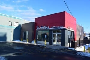 As you travel east along Lake Shore Blvd. West, from the Shoppers Drug Mart, you will arrive at a Tom Hortons coffee shop at the corner of Thirty Eighth and lake Shore. Previously the property had been a KFC outlet. Jaan Pill photo