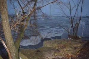 In order to add to the discussion, about the natural features of Long Branch, I am pleased to post this photo, from Feb. 24, 2016 featuring a view in stormy weather toward Lake Ontario from the foot of Fortieth Street. Jaan Pill photo