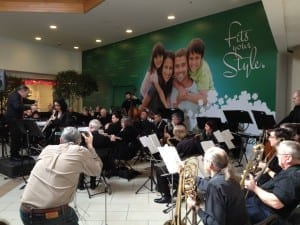 Etobicoke Community Concert Band at Government and Community Services Fair at Cloverdale Mall, feb. 20, 2016. Jaan Pill photo