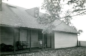 Front view (facing north) of Samuel Smith house, on what are now the school grounds of Parkview School.