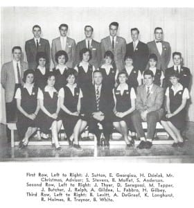 Source: MCHS 1961-62 yearbook, p. 68. The image has been copied from an MCHS 1961-62 yearbook file.