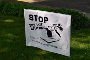 The sign is not a product of the Long Branch Neighbourhood Association. Jaan Pill photo.