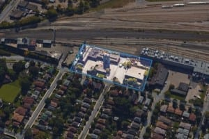 """The photo is from the May 17, 2016 CBC article highlighted at the post you are now reading. Caption for the article reads: """"Dunpar Developments has submitted a rezoning application so it can build 72 townhomes and a commercial building on this outlined section of land. (Google)."""""""