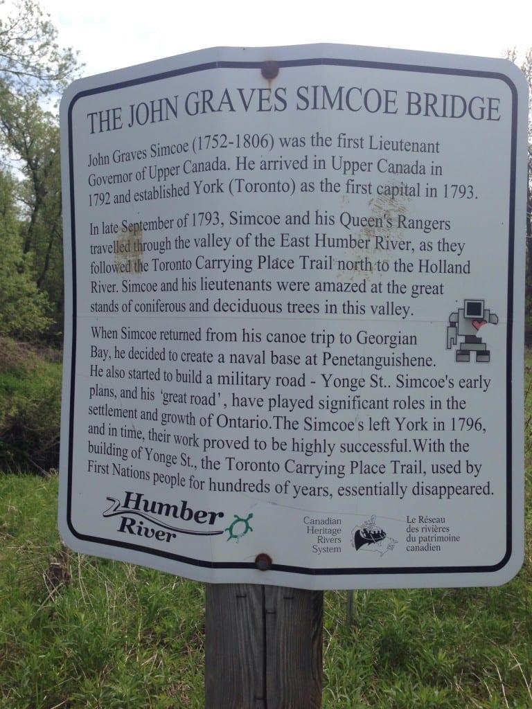 Plaque for Simcoe Bridge in Kleinberg. Daniele Rossi photo