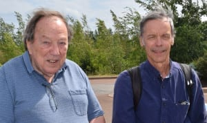 Good-looking guy on the left is Graeme Decarie. Person on right is a blogger who was travelling through town and ran into Mr. Decarie at a Tim Horton's coffee shop in Moncton, N.B. on Aug. 6, 2016