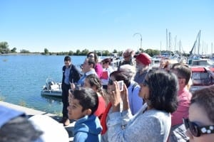 The ground-making (as in contrast to a ground-breaking) Construction Kickoff Celebration took place at the Lakefront Promenade Marina in Mississauga. Jaan Pill photo