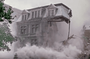 "The voice over notes: ""Sept. 8, 1973. The Van Horne Building, one of the great mansions, is bring torn down to make way for a nondescript office building."