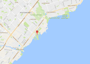 Image is from Google Maps; see link at this page to access map showing location of Lakeshore Promenade Marina.