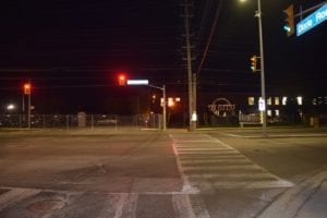 View of Small Arms Building in Mississauga: Corner of Dixie Road and Lakeshore Road East. Jaan Pill photo