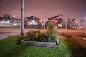 Hanlan Water Project site is located just east of the Small Arms Building. Jaan Pill photo