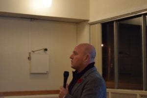 MPP Peter Milczyn outlines OMB Review at November 6, 2016 meeting at Long Branch Legion. Jaan Pill photo