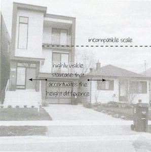Figure 44. Modern house dwarfs existing 1-storey bungalow