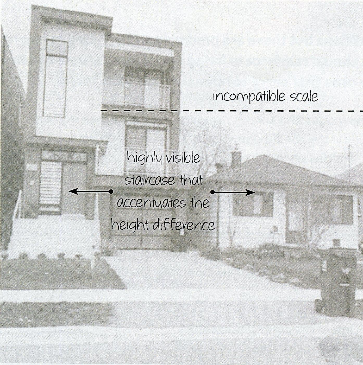 Modern House Dwarfs Existing 1 Storey Bungalow