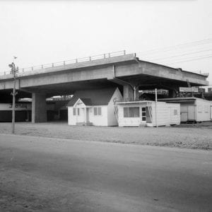 """I've added this photo as a way to help position the 1950s in Toronto, in my mind. The Bentway The image is from @thebentway, whose Fab. 2, 2017 tweet reads: """"This 1950s photo shows the last tenants of the space under the Gardiner Expressway. The Bentway is ready to be the next."""""""